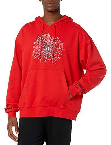 adidas mens Donovan Mitchell Hoodie Red X-Large