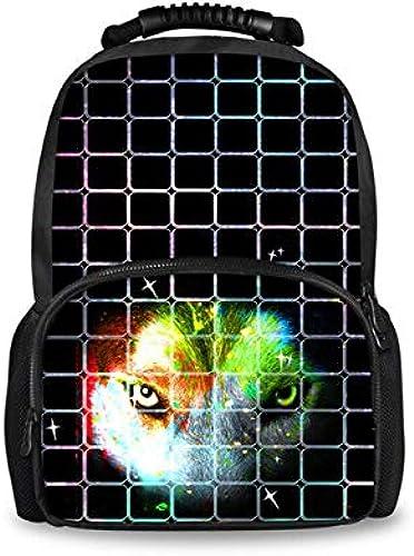 Bgdo.cccc Scolaire sac à dos Imprimé Créativ-3D Animal Sac à Dos Anime,Chat de Compagnie Animaux Sac à Main pour Enfant Garçon Fille Taille:44x31x18 cm,3