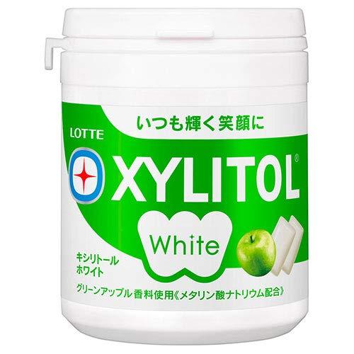 ロッテ キシリトールホワイト グリーンアップル ファミリーボトル 143g×6個入×(2ケース)