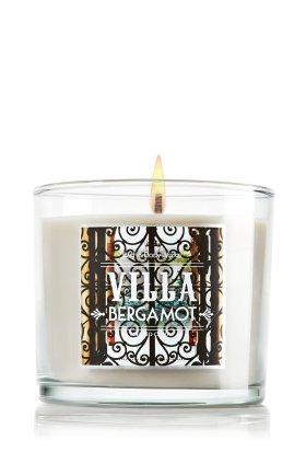 1 X Bath & Body Works Villa Bergamot 4 Oz. Scented Candle