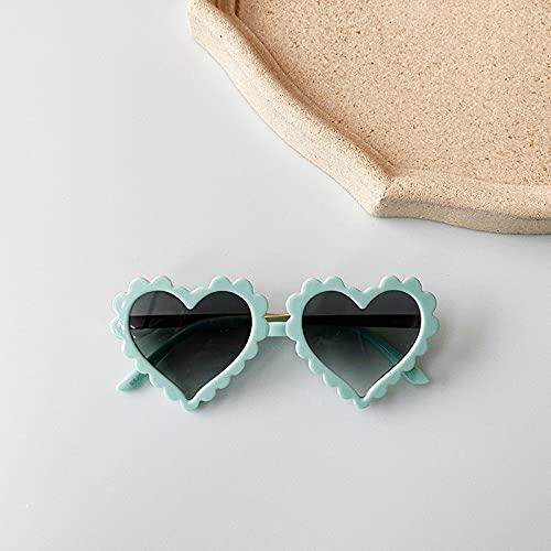 Kpcxdp Niño de Verano Niño Chica Gafas de Sol Niños Amor Patrón Gafas de Sol Gafas Juguetes de Playa Moda Gafas para niños adecuados para 1 a 8 años