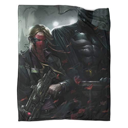 Xaviera Doherty Manta de regalo de Batman The Dark Knight Gotham Movie Activity de 100 x 130 cm, para otoño e invierno, para oficina, aire acondicionado, almuerzo, pausa chal