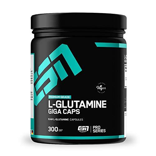 ESN L-Glutamine Giga Caps – 300 Kapseln – hochwertiges ultrafeines L-Glutamin – 60 Portionen – vegan – Made in Germany