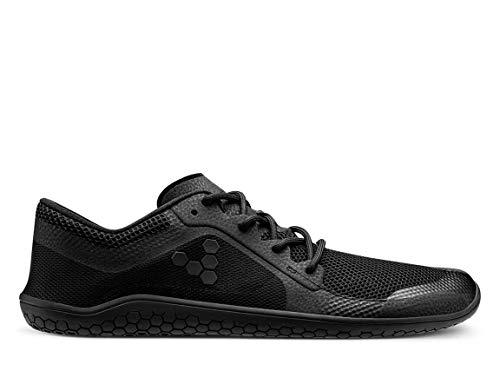 VIVOBAREFOOT Primus Lite - Zapato transpirable con movimiento ligero vegano con suela descalzo, color Negro, talla 35.5 EU