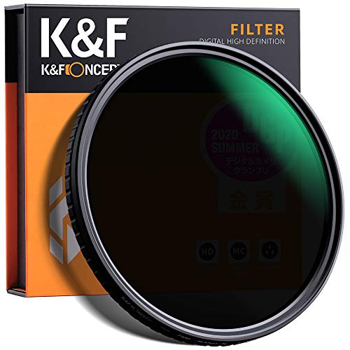 ND Filter 67mm K&F Concept Nano Slim Neutral Graufilter ND2-ND32 Objektivfilter Verstellbar ND2 ND4 ND8 ND16 ND32