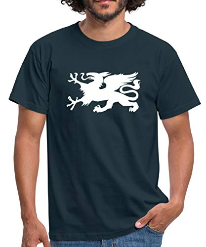 Hansestadt Rostock HRO Stadtwappen Männer T-Shirt, XXL, Navy