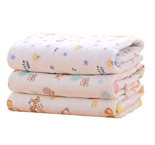 Cambiador de pañales, colchón impermeable para bebé, 3 unidades como se muestra en la imagen. Talla:M (70 x 50 cm)
