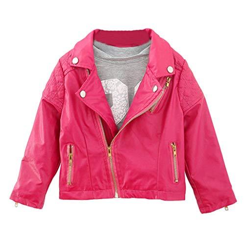 DIASTR Baby Kinder Mantel, Coat Jacken Herbst Winter Junge Mädchen Pu Nähte Revers Lederjacke Strickjacke Kleidung Warm Outwear...