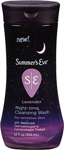 Summer's Eve Night-Time Sensitive Skin Cleansing Wash, Lavender 12 oz (Pack of 8)