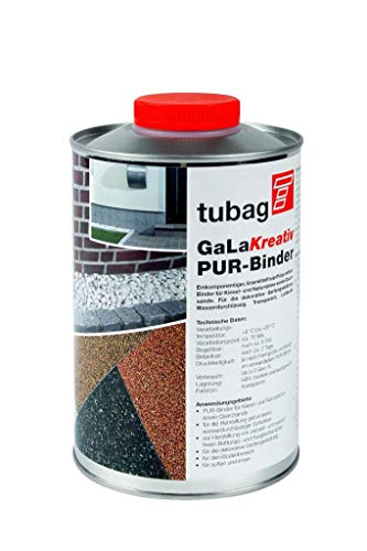 Galakreativ Pur-Binder, Binder für Kiesel & Natursteine, Steinteppich, Gartengestaltung, Quarzsande, 1L oder 5L Flasche inkl Lieferung (1 Liter)