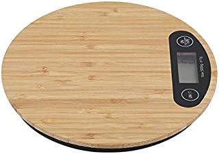 Bhth Wooden Bamboo HD LCD Display Electronic Scale 5KG / 1G Kitchen Electronic Scale High Precision Mini Food Baking Kitch...