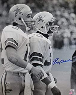 roger staubach autographed photo