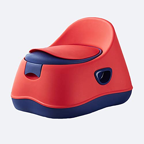 WZHIJUN Orinal Aprender Calentador de Cama con Escabel, Banda Amortiguar Respaldo Bebé Asiento del Baño, Diseño Antideslizante, 3 Colores (Color : Red, Size : PU)