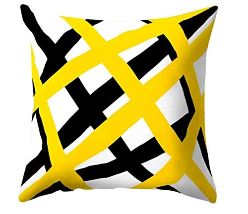 New Geometric Yellow Pillowcase Sofa Decoration Cushion Diy Printing Pillow Chair Car Seat Cushion Christmas Home Decoration