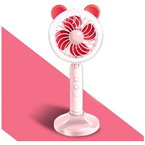 SONG Mini Ventilador de Lámpara de Mesa Ventilador Portátil de Mano USB Pequeño Ventilador de Escritorio,Pink