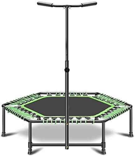 Gymqian Fitness Trampoline Foldable Sports Trampoline Adjustable Handles and Bungee Cord System Child Adult Indoor Garden Trampoline Garden