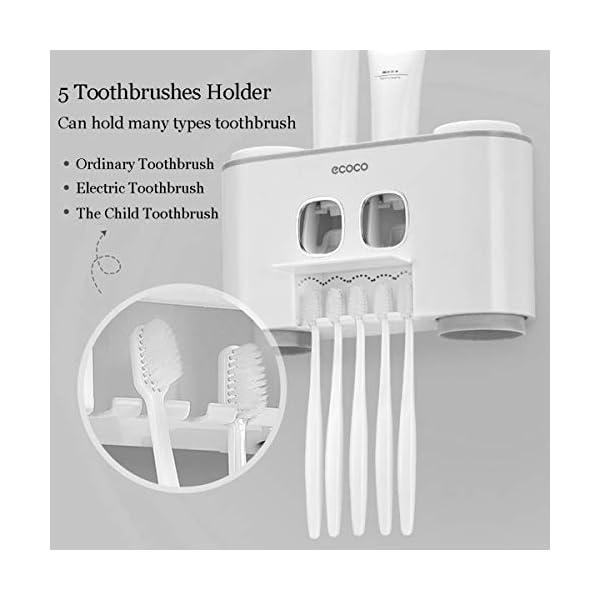 Automático Dispensador de Pasta de Dientes y Conjunto de Portacepillos