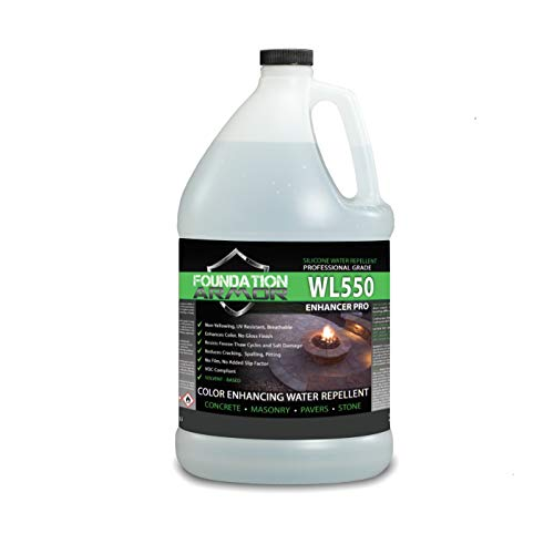 Armor WL550 1 GAL Matte Wet Look Sealer for Concrete, Brick, Pavers, and Stone