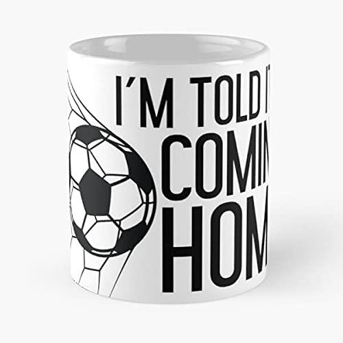 Funny England Football Fan I'm Told It's Coming Home - Taza de café de cerámica blanca de 325 ml