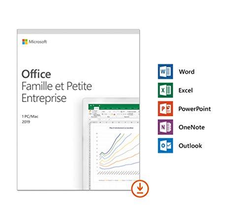 Microsoft Office Famille et Petite Entreprise 2019 - 1 PC ou Mac - achat définitif | Téléchargement
