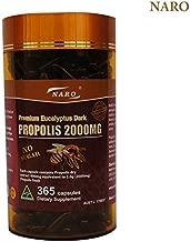 Naro Bee Propolis Extract 2000mg Premium Eucalyptus Dark 365 Capsules Australian Made