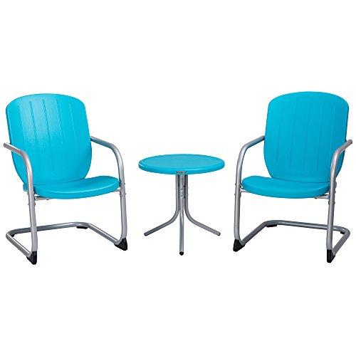 Lifetime Plastic Retro Outdoor Patio Furniture Set, Comfort Contoured Polyethylene