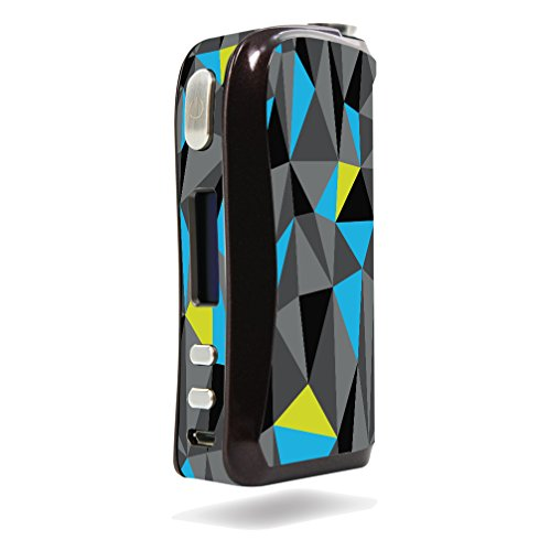 Decal Sticker Skin WRAP Grey Yellow Blue and Black Triangle Design for Aspire Pegasus