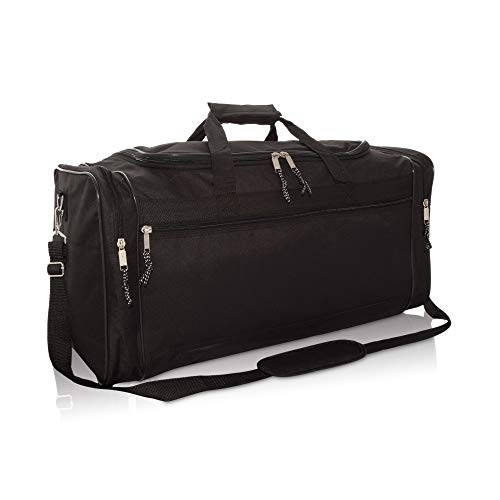 DALIX Reisetasche, extra groß, 63,5 cm, Schwarz / Grau / Marineblau / Rot / Camo, schwarz (Schwarz) - DF-056-Black
