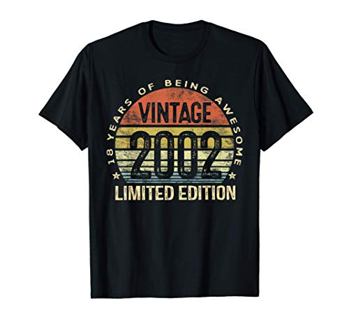 18 Year Old Gifts Vintage 2002 Limited Edition 18th Birthday T-Shirt