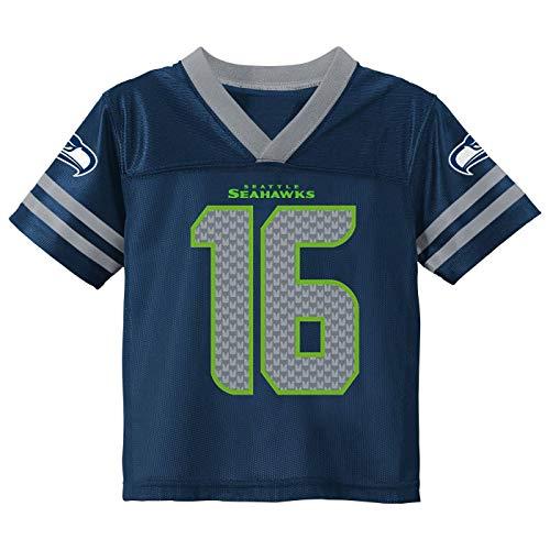 Outerstuff Tyler Lockett Seattle Seahawks #16 Navy Youth 8-20 Home Player Jersey (10-12)