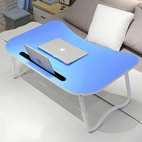 Mesa para computadora portátil escritorio para dormitorio mesa de trabajo plegable escritorio para juegos pc estación de trabajo de estudio portátil bandeja de cabecera para sofá cama piso-Q 60x40x28