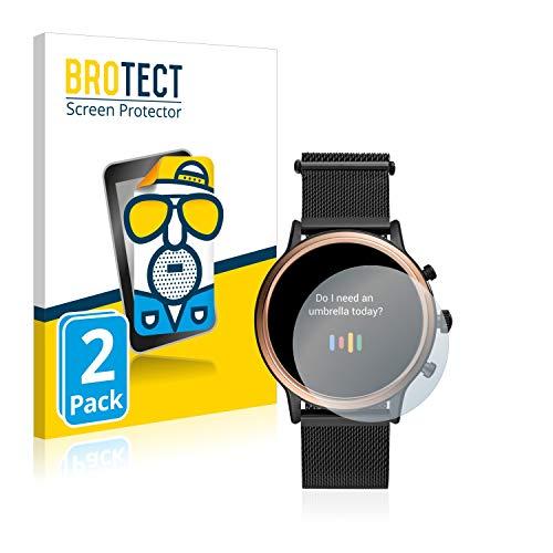 BROTECT 2X Entspiegelungs-Schutzfolie kompatibel mit Fossil Julianna HR (5.Gen) Bildschirmschutz-Folie Matt, Anti-Reflex, Anti-Fingerprint