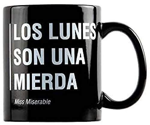 Miss MIserable Taza Original, Negro, 9,5 x 10 cm
