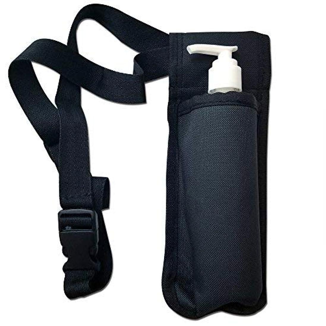 意志かもしれない混乱させるTOA Single Bottle Holster Adjustable Strap w/ 6oz Bottle for Massage Oil, Lotion, Cream [並行輸入品]