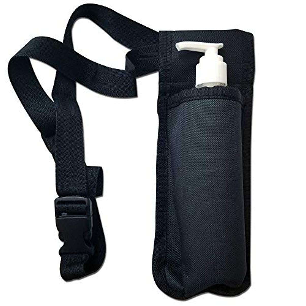 ポーチ違法肝TOA Single Bottle Holster Adjustable Strap w/ 6oz Bottle for Massage Oil, Lotion, Cream [並行輸入品]