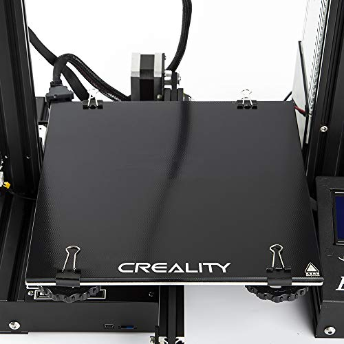 Creality 3D Printer Platform Heated Bed Build Surface Upgrade Tempered Glass Plate for Ender 3/Ender 3 Pro/Ender 3 V2/Ender 5/Ender 5 Pro/CR-20 Pro 3D Printer 235x235x4mm