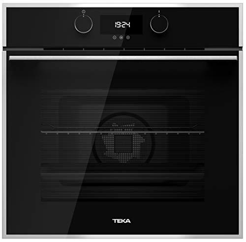 TEKA HLB 840 Einbau-Backofen, Energieklasse A, 59,5 cm, 70 l, in Schwarz, mit 9 Beheizungsarten und LED-Display