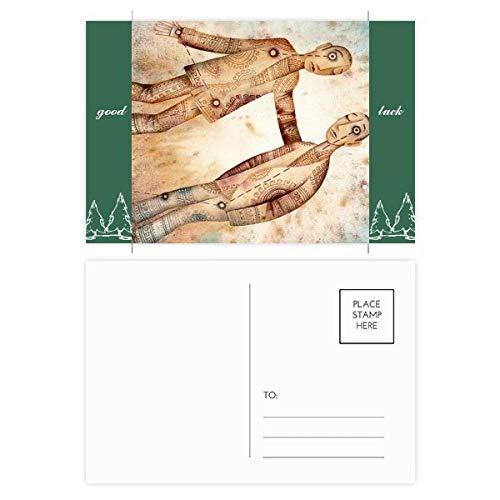 Mei Juni Gemini sterrenbeeld Zodiac Good Luck Postkaart Set Kaart Mailing Zijkant 20 stks