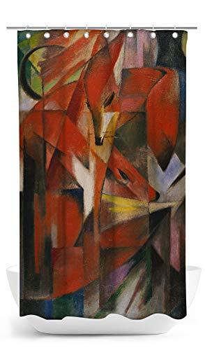 fotobar!style Duschvorhang 140 x 200 cm Franz Marc - Füchse. 1913