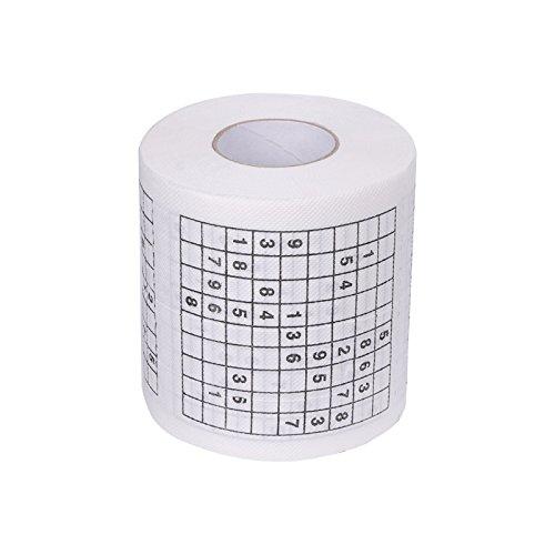 TOOGOO Dauerhaft Sudoku Bedrucktes Seidenpapier Toilettenpapier Spass Spiel Lustige praktische Werkzeuge fuer das Leben