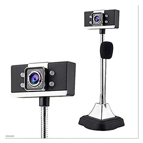 Cámara web digital HD 1080P para computadora, videoconferencia, televisión, portátil, videollamadas, micrófono integrado para educación a distancia y aprendizaje, red (color: negro)