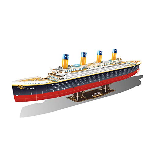GuDoQi 3D Puzzles for Boys Girls and Adults, Titanic Jigsaw Puzzles, 3D Paper Model Kit to Build, Family Games for Little Kids and Parents, DIY Assembly Toy Gift for Birthdays Christmas, 116 Pieces