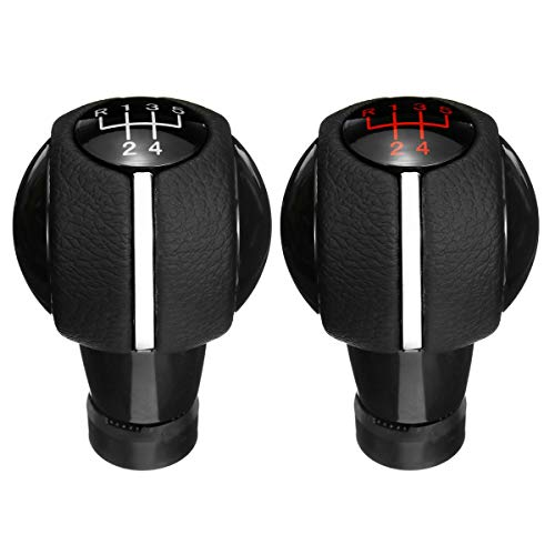 LnNcWcD 5/6 Gang-Schaltgetriebe Auto Schaltknauf Schalthebel Abdeckung Gamasche Lederstiefel Handbuch Zubehör/Fit for Mini Cooper F54 F55 F56 F57 F60 (Color Name : 6 Speed red)