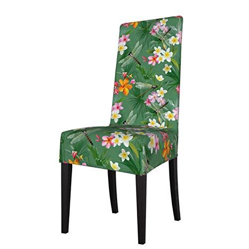 Tropical Floral mit Libellen Stretch Esszimmerstuhl SlipCoverCofy Armless Chair Schonbezug Protector Cover für Esszimmer