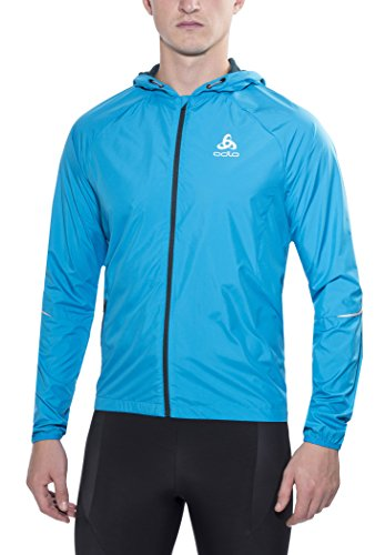 Odlo Herren Jacket Scutum Funktionsjacken Lg.arm He/Uni, Blue Jewel, XL