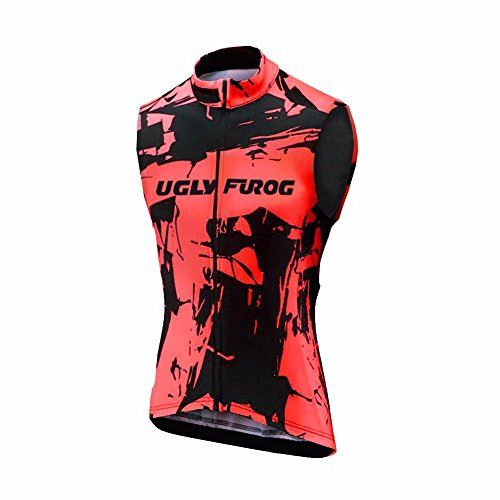 Uglyfrog HDZRMJM02 Radsport Trikots Radweste MTB Racing Herren Ärmellos Sport & Freizeit Shirts Cycling Westen Breathable Winter with Fleece Warm Style