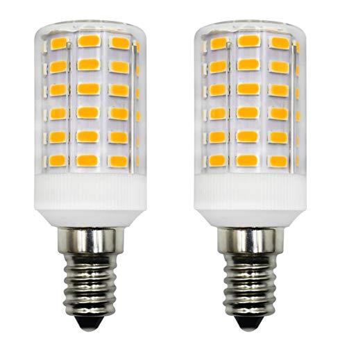 Bombilla LED de 6 W E14, 12 V, sustituye a bombilla de 60 W, T22, no regulable, luz blanca cálida, 3000 K, para caravana, garaje, jardín, lámpara decorativa, pack de 2 unidades