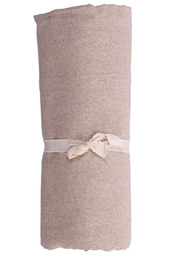 HomeLife – Foulard Multiusos – Tela Decorativa Cubre sofá con diseño Liso, 260x280, fabricación Italiana – Granfoulard de algodón – Cubrecama Doble (Cama de Matrimonio) – Beige 🔥
