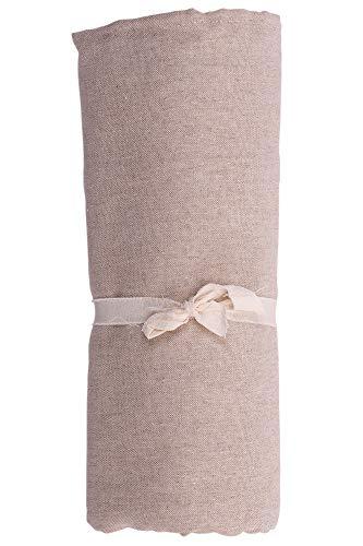 HomeLife - Telo Arredo Copridivano a Tinta Unita – Lenzuolo Copritutto Multiuso in Cotone – Granfoulard Copriletto per Letto Singolo – Made in Italy - [160 X280] Beige