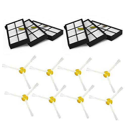 tekehom Ersatz Staubsauger Bürsten und Filter Wartungs-Kit für iRobot Roomba 800Serie 860870880890900960980–Teile und Zubehör